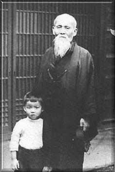 O'Sensei és a jelenlegi Doshu